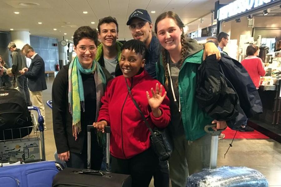 Arrival in Sweden