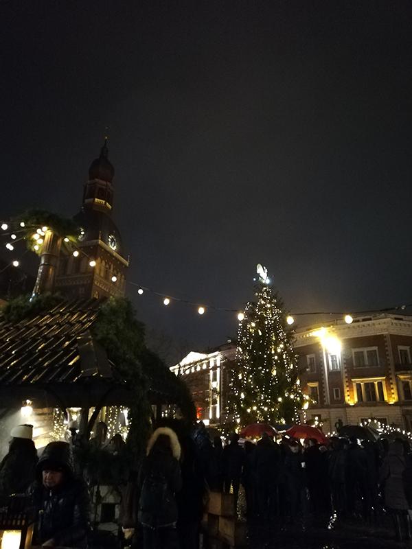 Christmas market in Riga, Latvia.